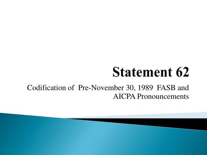 Statement 62
