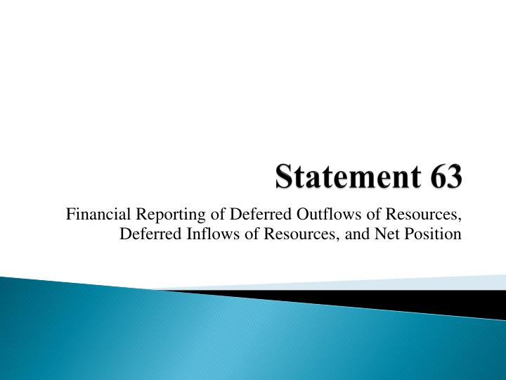 Statement 63