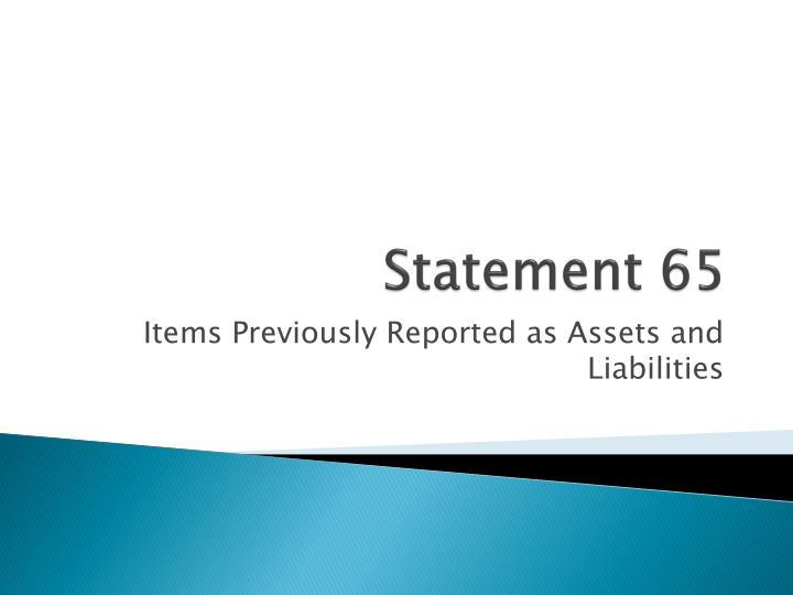 Statement 65