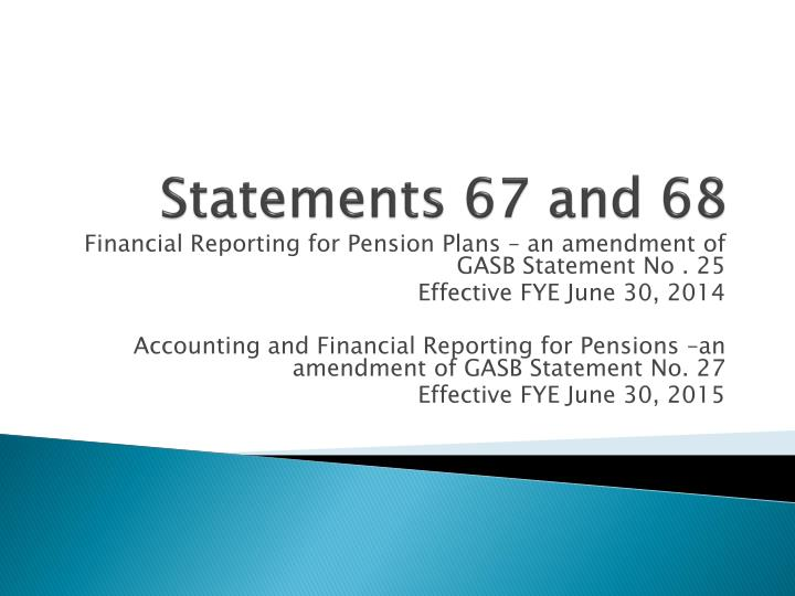 Statements 67 and 68