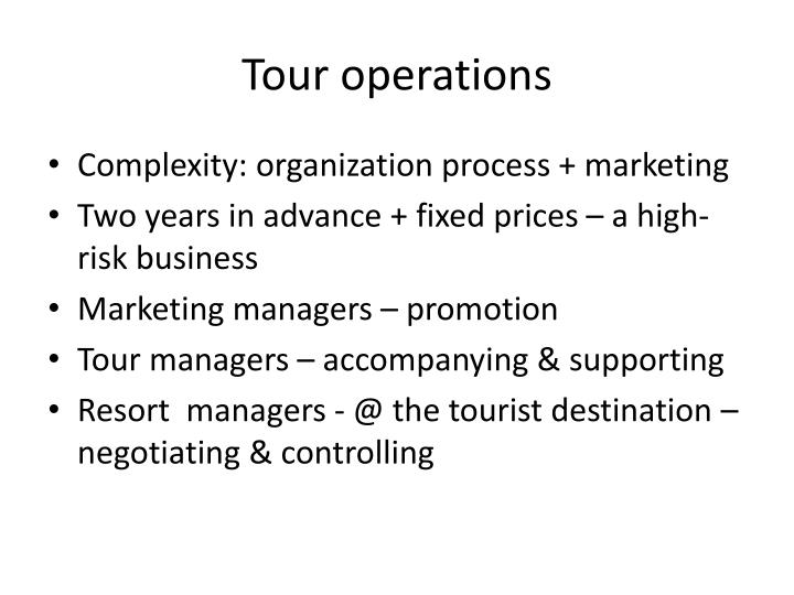 Tour operations