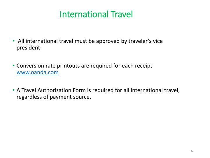 International Travel