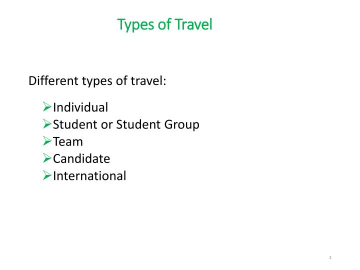 Types of travel