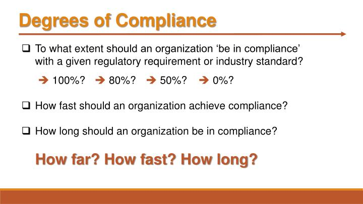 Degrees of Compliance