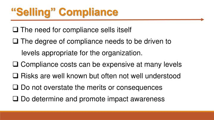 """""""Selling"""" Compliance"""