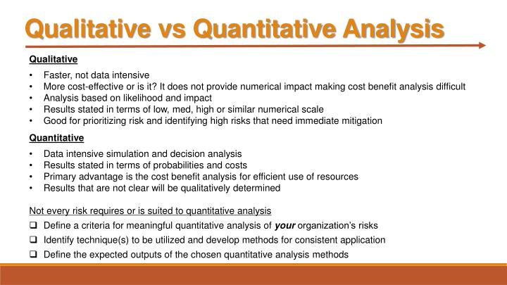 Qualitative vs Quantitative Analysis