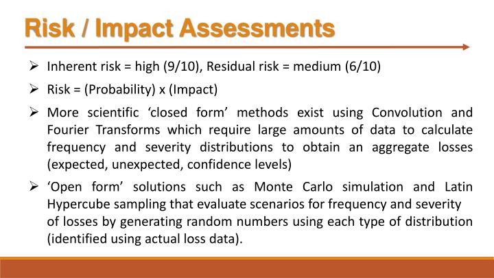 Risk / Impact Assessments