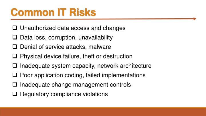 Common IT Risks