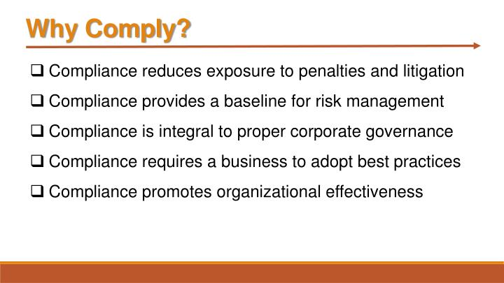 Why Comply?