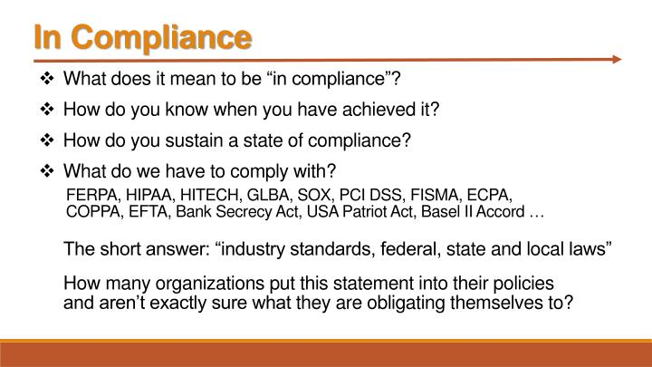 In Compliance