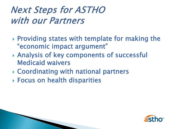 Next Steps for ASTHO