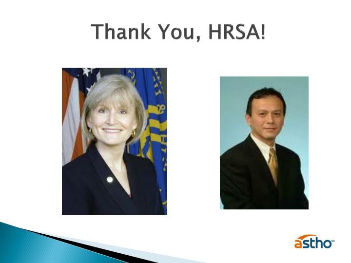 Thank You, HRSA!