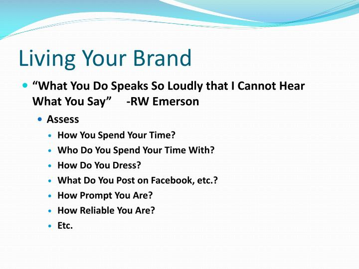 Living Your Brand