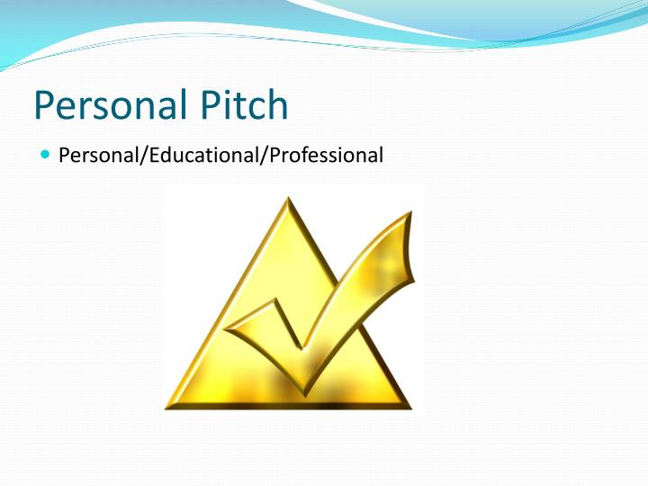 Personal Pitch