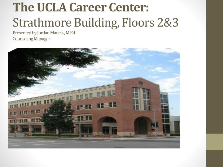 The UCLA Career Center: