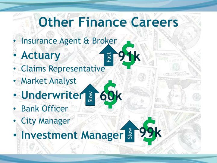 Other Finance Careers