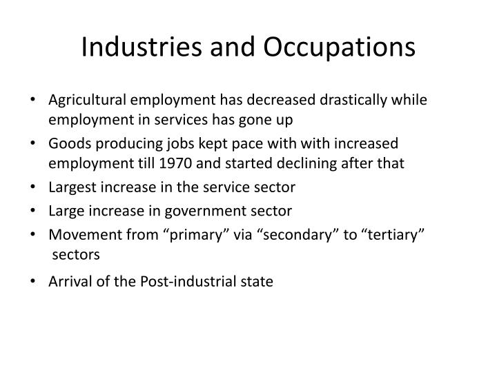 Industries and Occupations