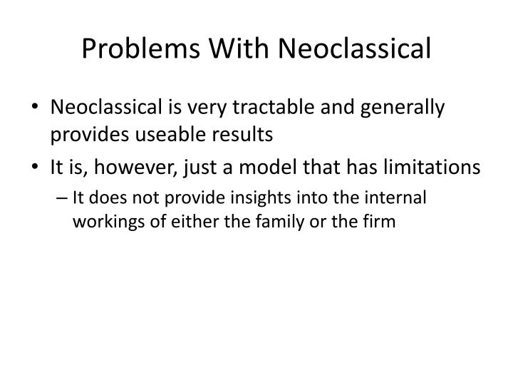 Problems With Neoclassical