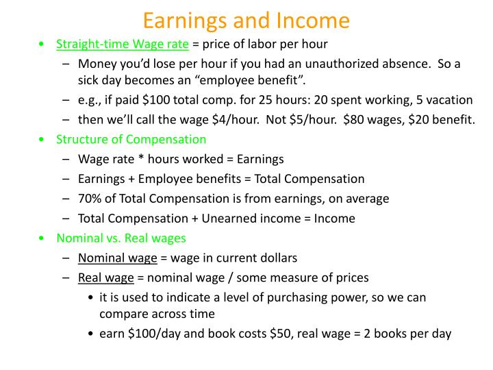 Earnings and Income