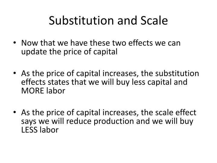 Substitution and Scale