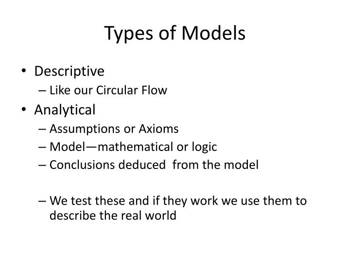 Types of Models