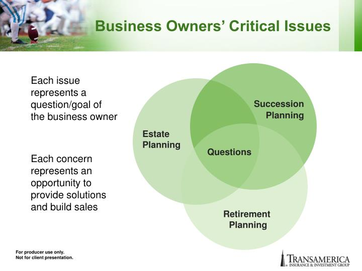 Business Owners' Critical Issues
