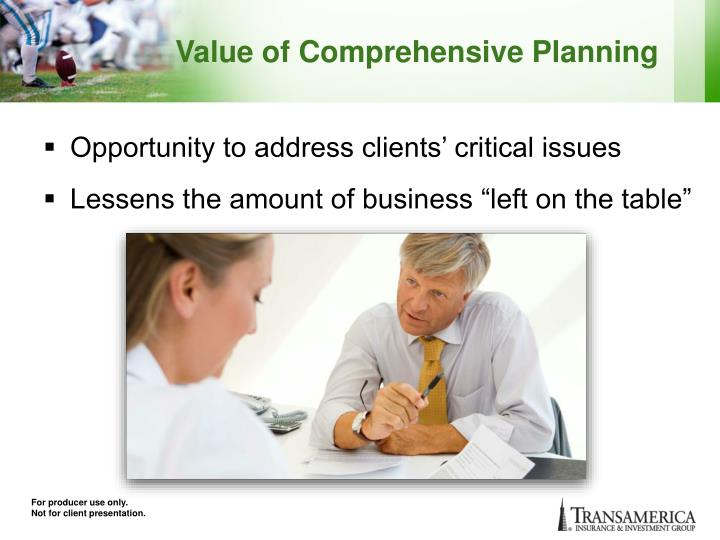 Value of Comprehensive Planning