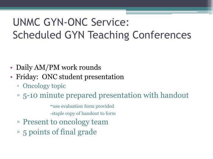 UNMC GYN-ONC Service: