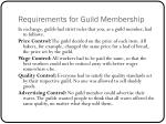 requirements for guild membership