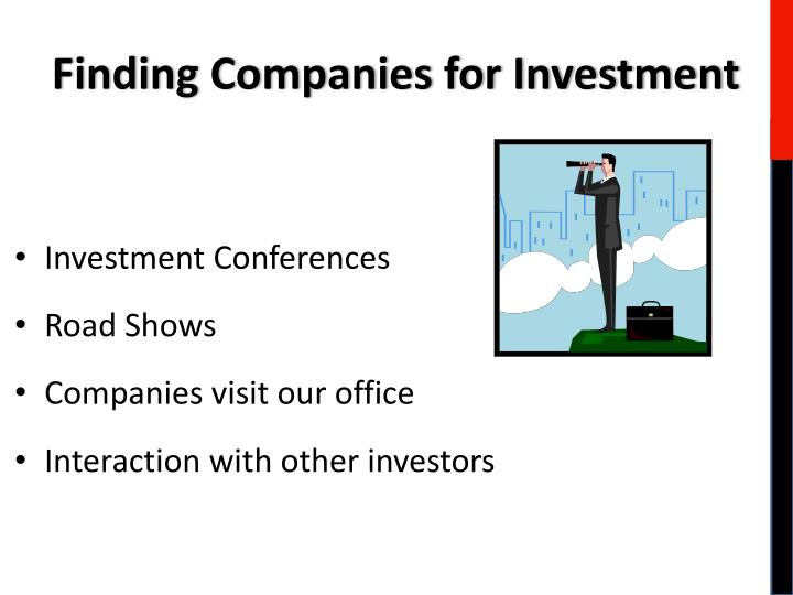 Finding Companies for Investment