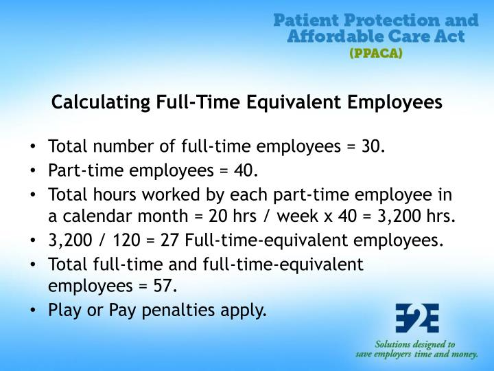 Calculating Full-Time Equivalent Employees