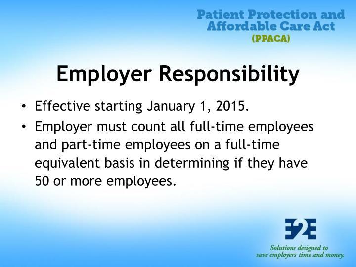 Employer Responsibility