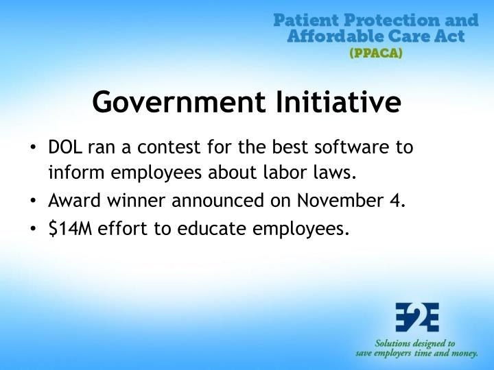 Government Initiative