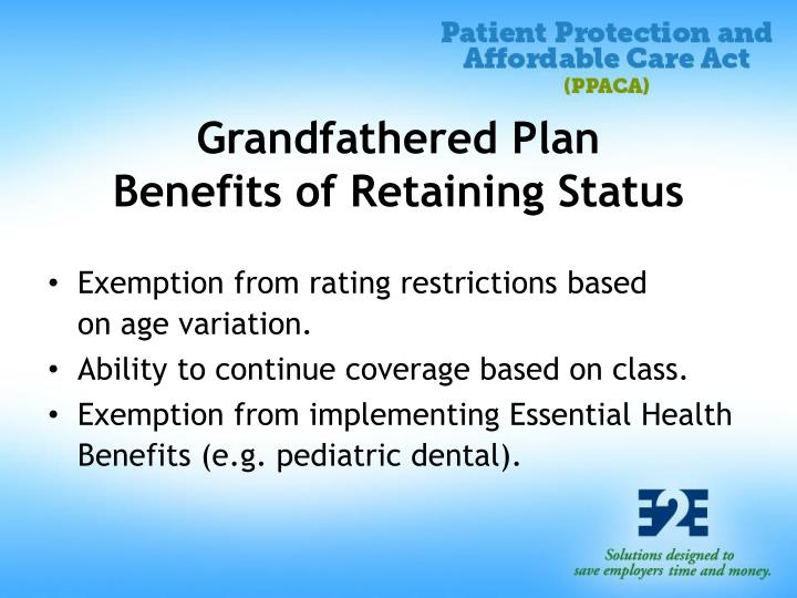 Grandfathered Plan