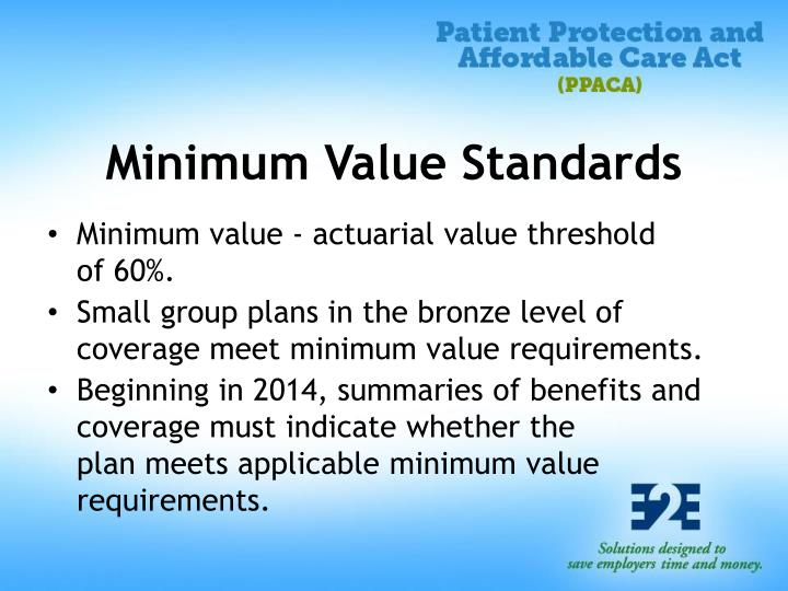Minimum Value Standards