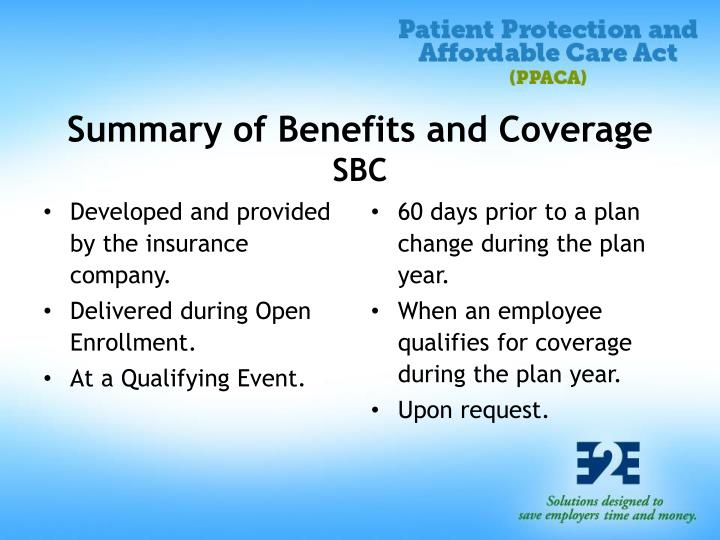 Summary of Benefits and Coverage