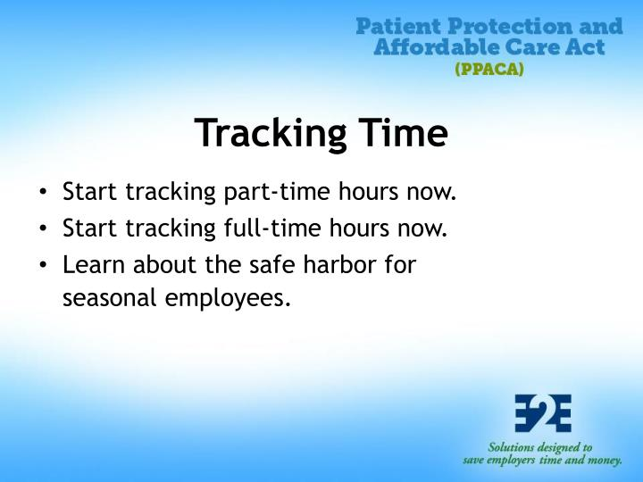Tracking Time