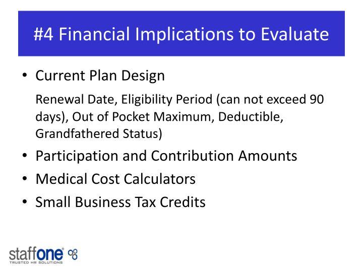 #4 Financial Implications to Evaluate