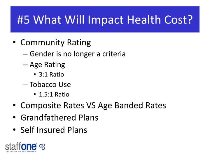 #5 What Will Impact Health Cost?