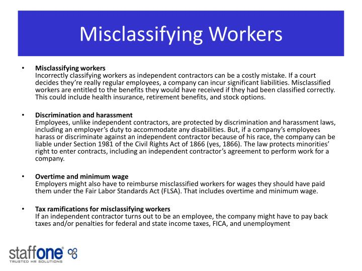Misclassifying Workers
