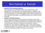 non exempt vs exempt