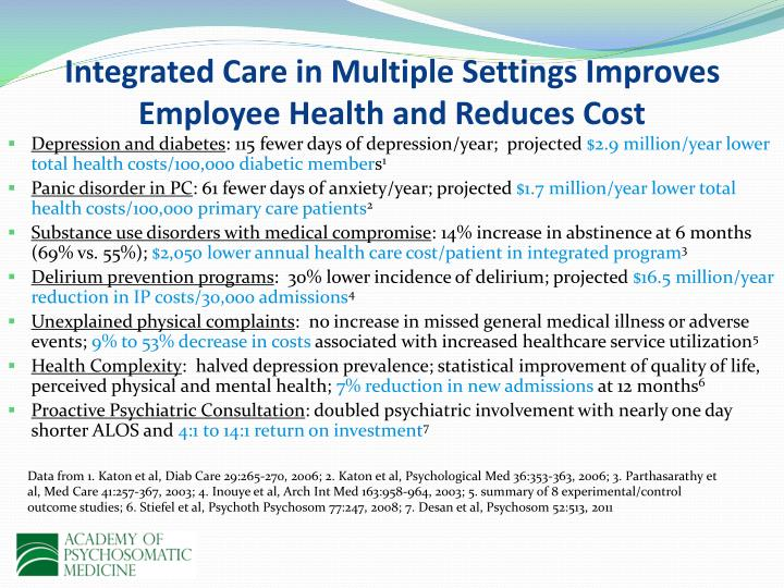 Integrated Care in Multiple Settings Improves Employee Health and Reduces Cost