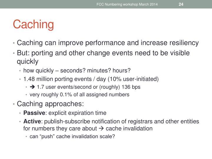 FCC Numbering workshop March 2014