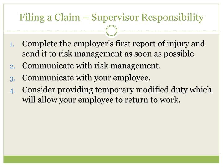 Filing a Claim –