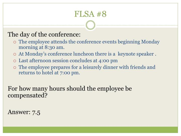 FLSA #8