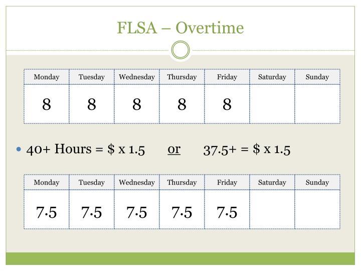 FLSA – Overtime