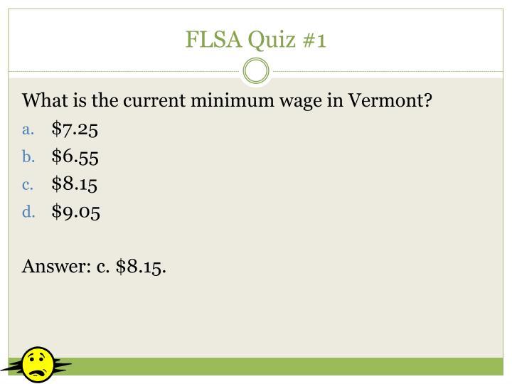 FLSA Quiz #1