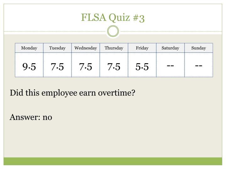 FLSA Quiz