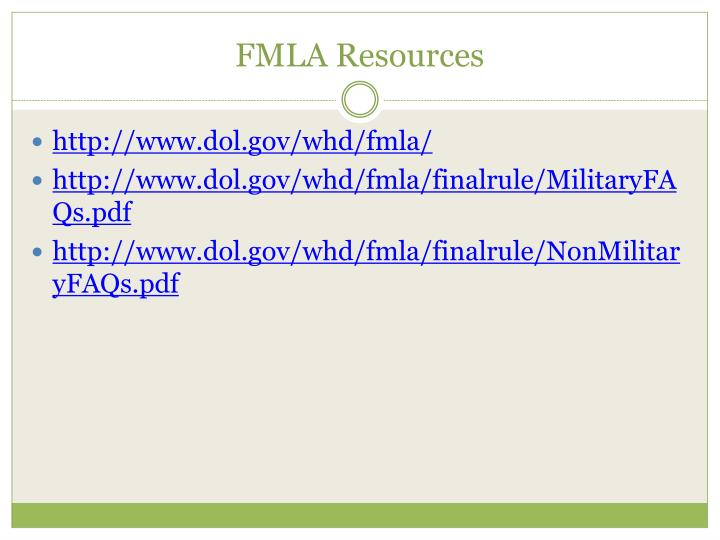 FMLA Resources