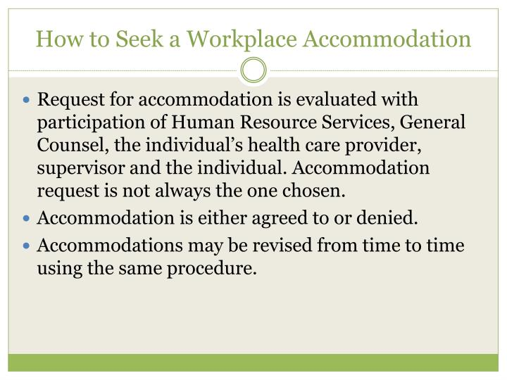 How to Seek a Workplace Accommodation